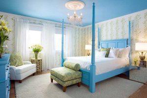 Mẫu Phòng Ngủ Màu Xanh Tao Nhã Với Nội Thất Đẹp – 2021