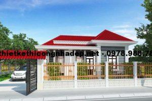Phương án 505 mẫu thiết kế nhà cấp 4 mái thái đẹp 8x12m