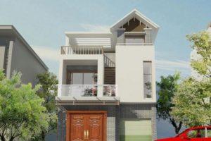 Bản vẽ mẫu thiết kế nhà phố 3 tầng 80m2 phong cách Độc Đáo