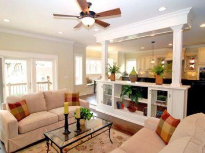 Top 10 mẫu trần thạch cao phòng khách có quạt trần đẹp nhất 2021