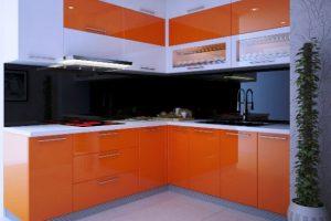 Mẫu tủ bếp Acrylic đẹp hình chữ L mang lại không gian Hiện Đại