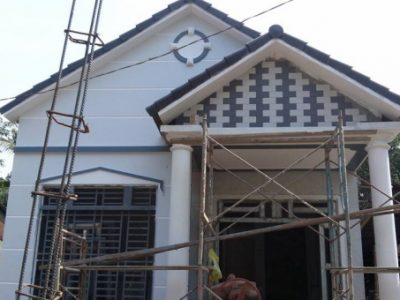 Bản vẽ nhà 1 tầng 2 phòng ngủ mái thái truyền thống trên đất 90m2