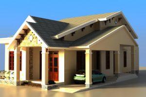 Download miễn phí bản vẽ nhà 1 tầng đẹp không gian đa chiều
