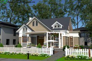Mẫu nhà cấp 4 đẹp 3 phòng ngủ – 20 mẫu nhà được xây nhiều nhất VN