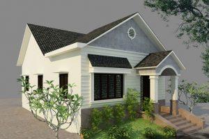 Mẫu nhà cấp 4 đẹp 2021 mái thái chữ A phổ biến ở nông thôn Việt Nam