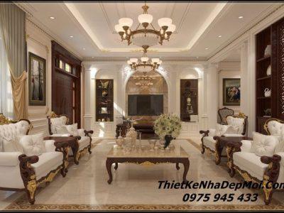 Mẫu thiết kế nội thất biệt thự tân cổ điển đẹp năm 2021