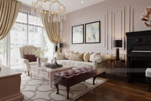 Nội thất căn hộ Luxury – Nội thất chung cư 2 phòng ngủ sang trọng