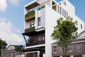Nhà 1 trệt 1 lửng 1 lầu 1 sân thượng – thiết kế hiện đại giá siêu tiết kiệm