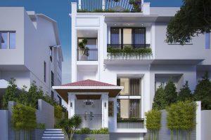 Biệt thự phố 4 tầng – Phong cách thiết kế cổ điển sang trọng và tinh tế