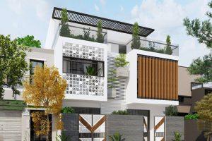 Tư vấn miễn phí Thiết kế Mẫu nhà đẹp mặt phố 2.5 tầng hiện đại