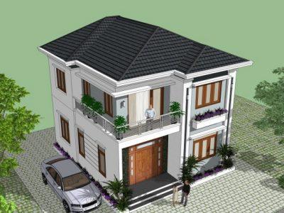 Tư vấn khách hàng thiết kế mẫu nhà 2 tầng đẹp theo kiến trúc biệt thự