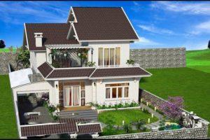 Thiết kế biệt thự nhà vườn 2 tầng đẹp gây ấn tượng với cái nhìn đầu tiên