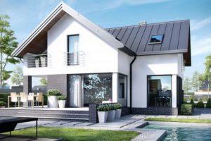 Thiết kế nhà biệt thự 2 tầng đẹp kiểu mái thái kết hợp Sân Vườn