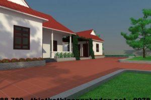 Bản vẽ mẫu thiết kế nhà cấp 4 đẹp hình chữ L diện tích 10x12m