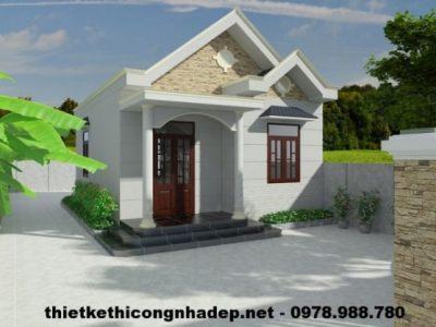Thiết kế nhà cấp 4 nhỏ gọn chi phí rẻ 250 triệu