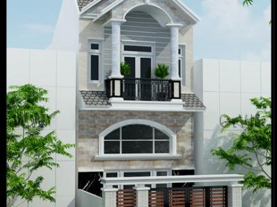 Bản vẽ thiết kế nhà 2 tầng giá 300 triệu có sân vườn Nhỏ Xinh