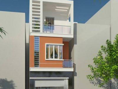 BTS mẫu thiết kế nhà phố 3 tầng diện tích 5x14m hiện đại