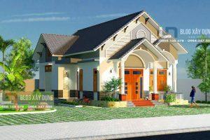 Thiết kế nhà vườn cấp 4 đẹp 10x14m khiến nhiều chủ nhà phải mềm lòng