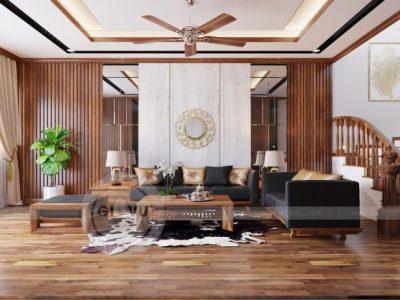 Nội thất nhà phố 2 tầng – Phong cách Á Đông vẻ đẹp thời thượng