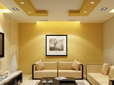 Thiết kế trần thạch cao phòng khách hiện đại 2021 mà bạn nên xem