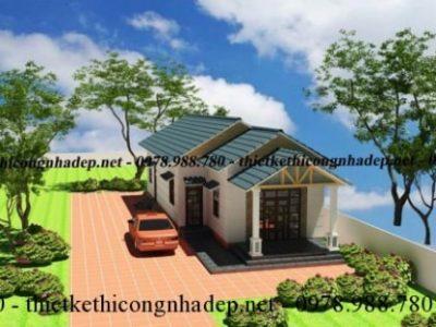 Tham khảo chi tiết xây nhà cấp 4 mái thái đẹp tại Sơn Tây 6x16m