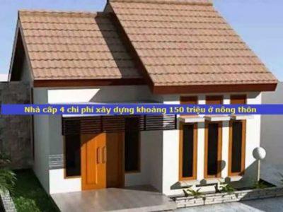 Phương án 102 xây nhà cấp 4 với chi phí 150 triệu ở Nông Thôn